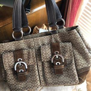 Coach buckle handbag